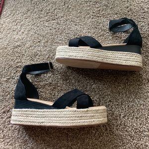Just Fab Black Platform Sandals